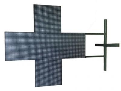 Аптечный крест полноцветный двухсторонний  LED 960x960 мм  (P10)