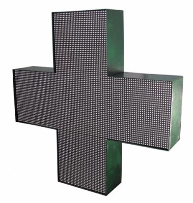 Аптечный крест полноцветный двухсторонний Led 576x576 smd P6